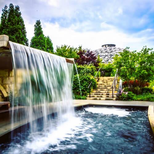 Des-Moines-Botanical-Garden-Waterfall