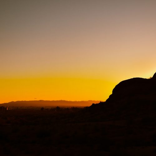 Papago-Park-Sunset-With-Airplane
